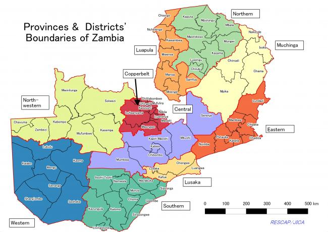Districts of Zambia